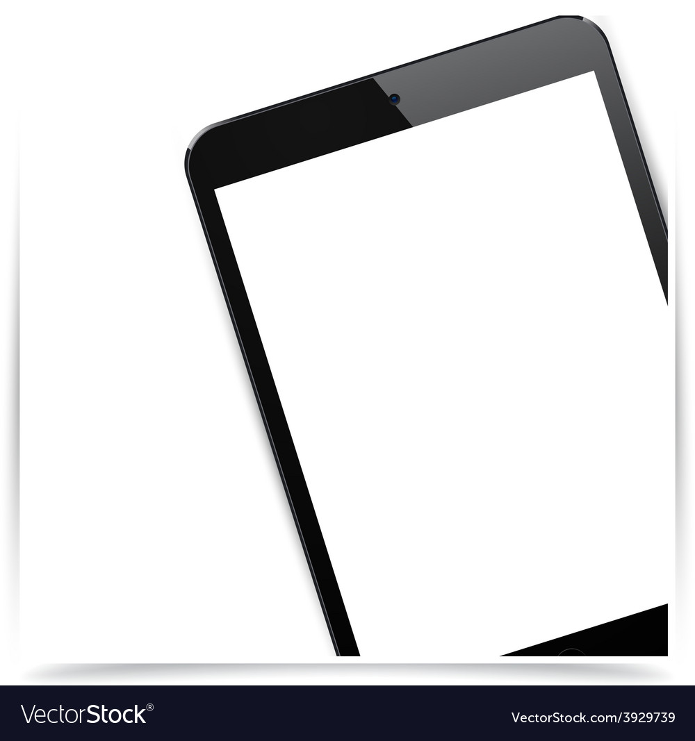 Realistic black tablet pad background vector | Price: 1 Credit (USD $1)