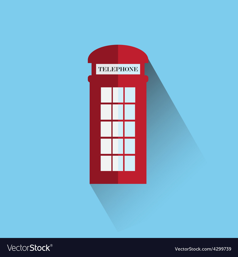 Red britain telephone box vector | Price: 1 Credit (USD $1)