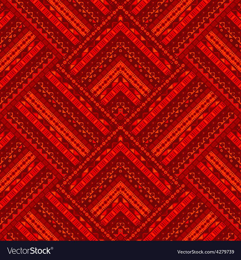 Red ethnic geometrical background vector | Price: 1 Credit (USD $1)