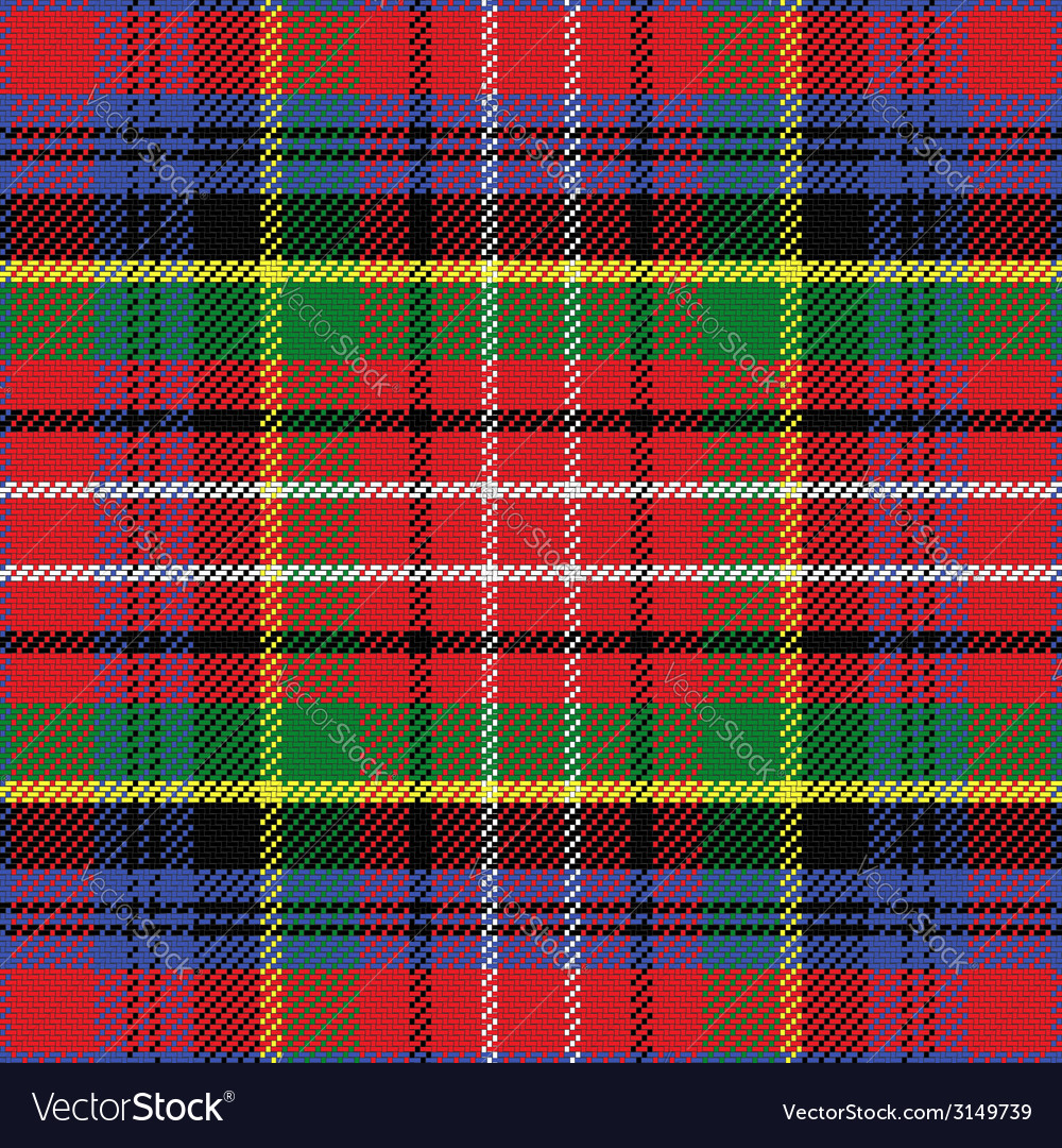 Seamless pattern caledonia scottish tartan vector | Price: 1 Credit (USD $1)