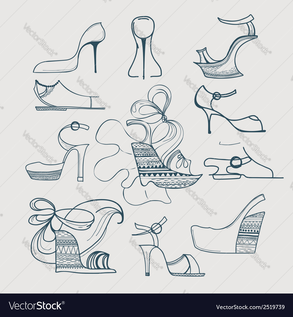 Shoes icon set vector | Price: 1 Credit (USD $1)