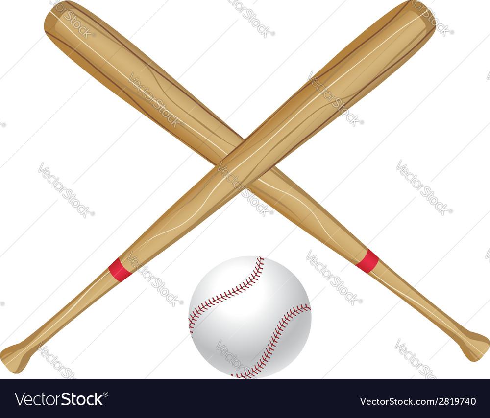 Baseball bat and ball2 vector | Price: 1 Credit (USD $1)