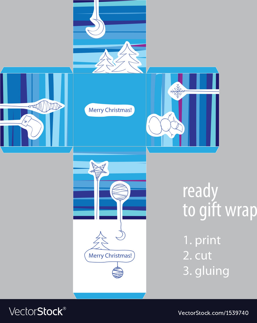 Christmas gift ready packaging vector | Price: 1 Credit (USD $1)