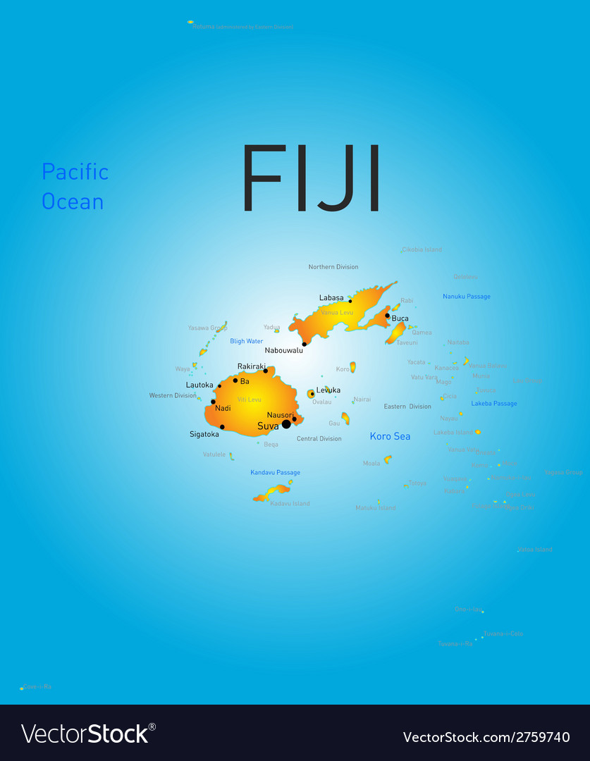 Fiji country vector | Price: 1 Credit (USD $1)