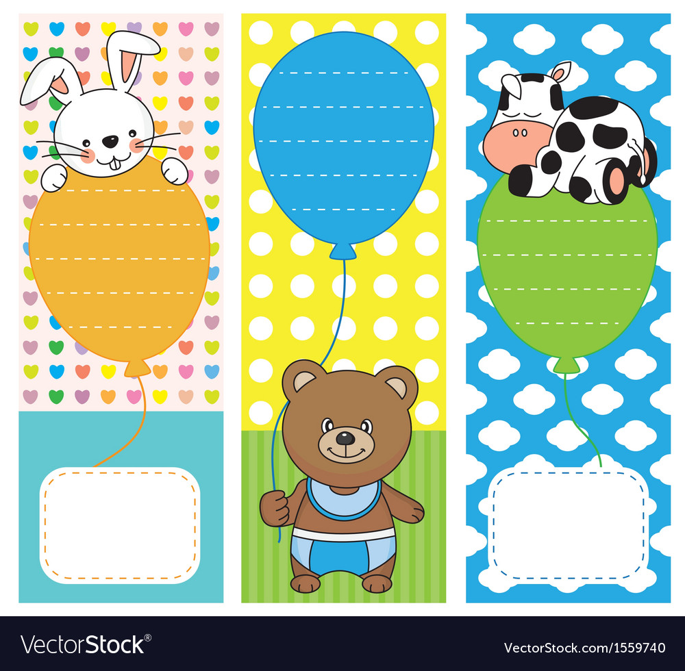 Fun invitations with animals vector | Price: 1 Credit (USD $1)