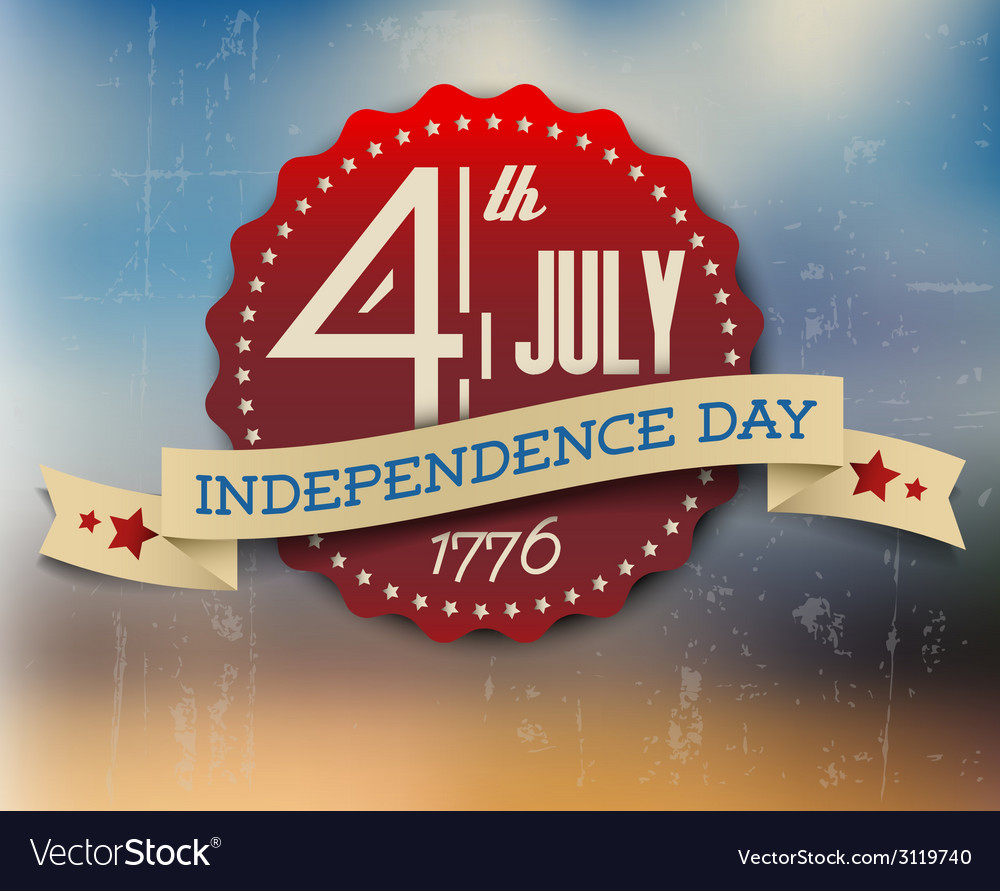 Independence day badge poster vector | Price: 1 Credit (USD $1)