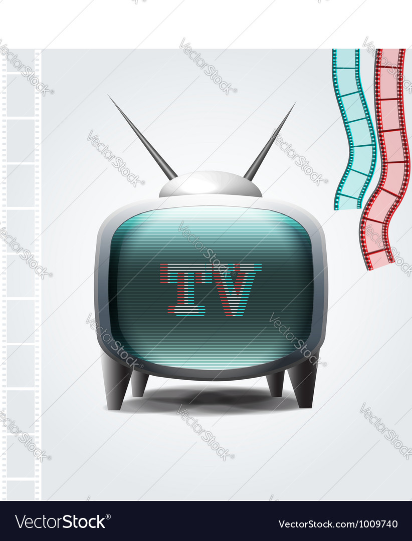 Retro tv set vector | Price: 3 Credit (USD $3)
