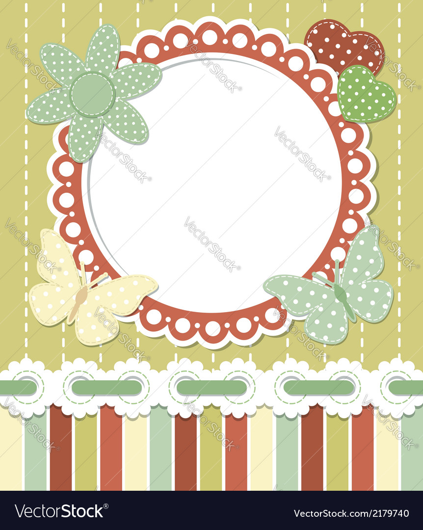Romantic vintage frame vector | Price:  Credit (USD $)