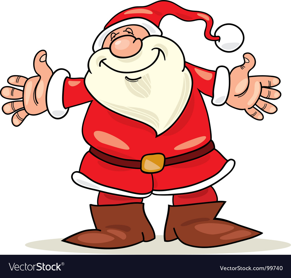 Santa claus with open arms vector | Price: 1 Credit (USD $1)