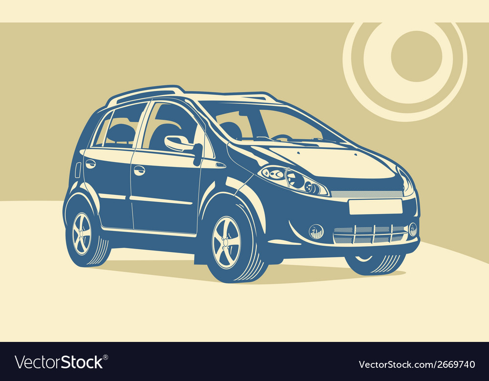 Small utilitie car vector | Price: 1 Credit (USD $1)