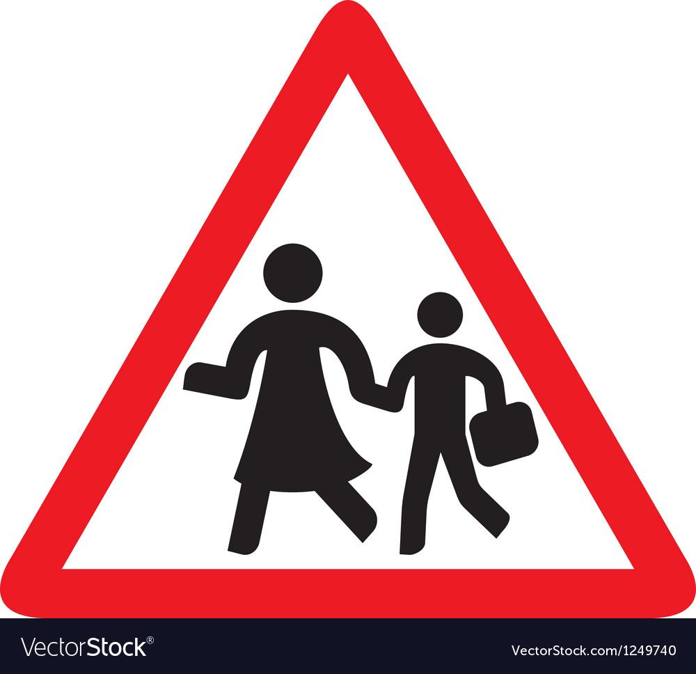Traffic sign schoo vector | Price: 1 Credit (USD $1)
