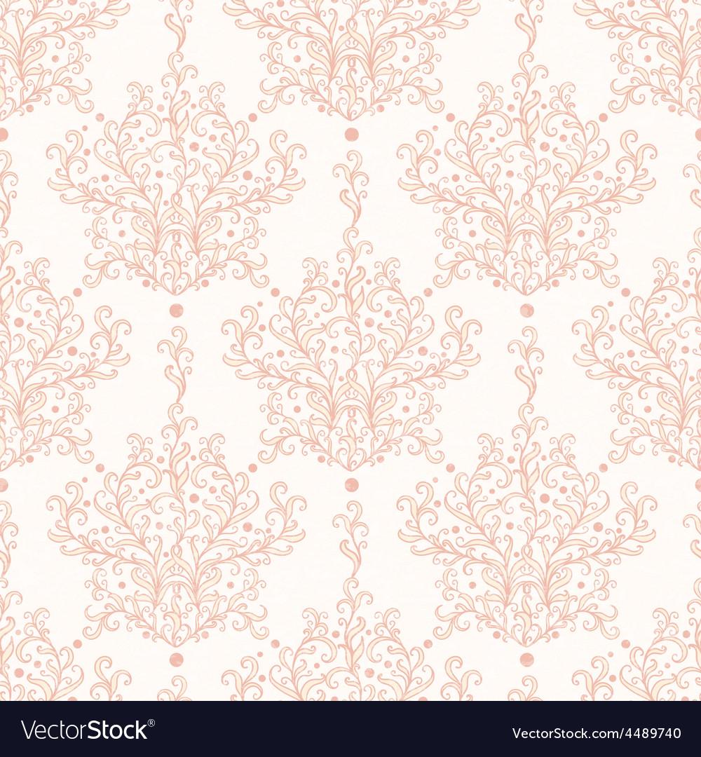 Vintage botanical damask seamless pattern vector   Price: 1 Credit (USD $1)
