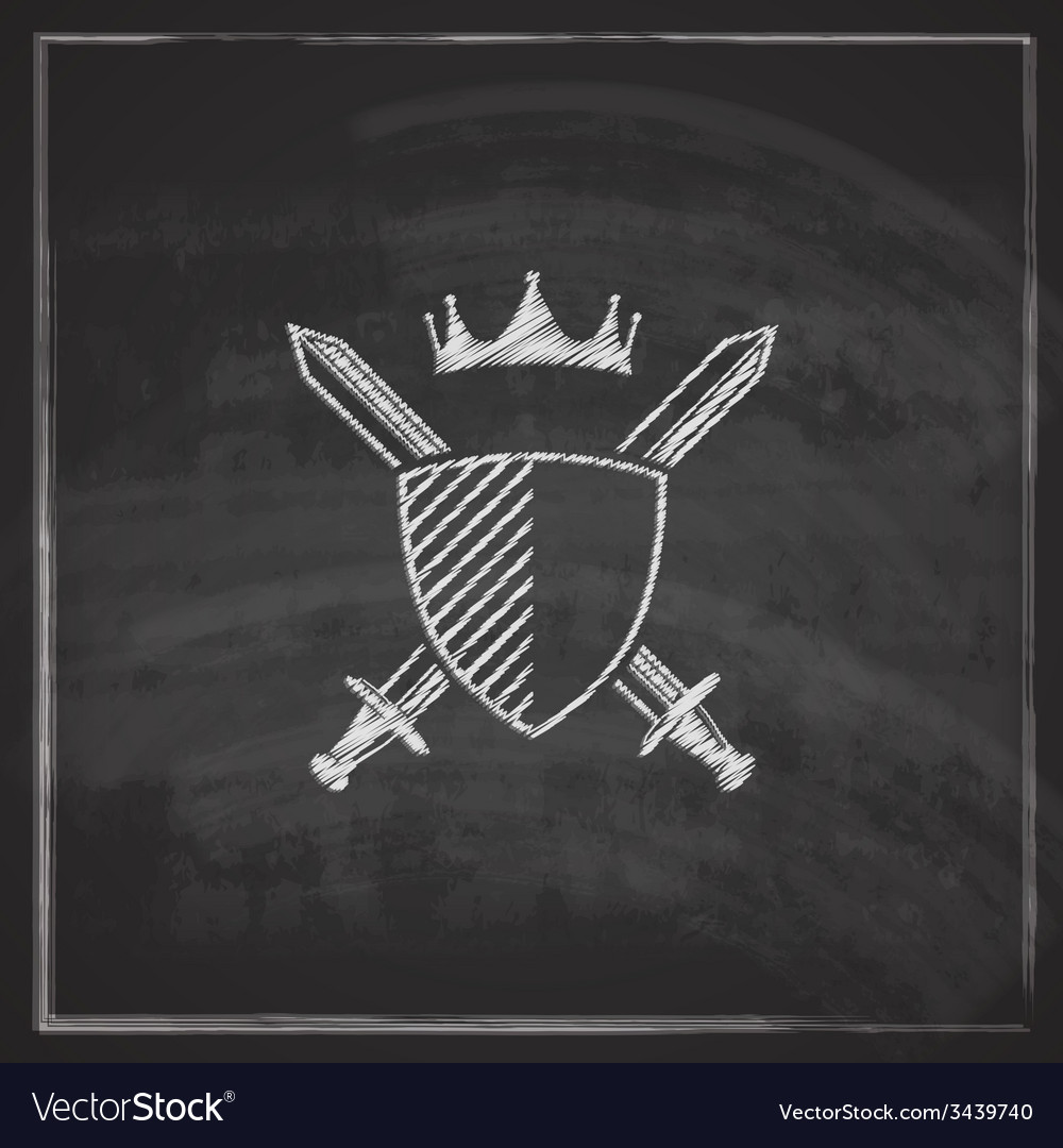 Vintage with a coat of arms on blackboard vector | Price: 1 Credit (USD $1)