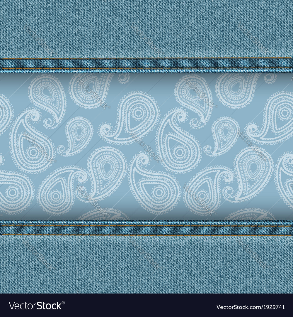 Denim and paisley vector | Price: 1 Credit (USD $1)