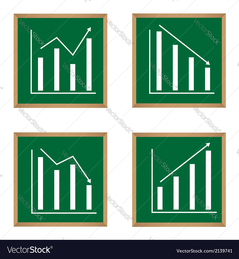 Different graphs and charts vector | Price: 1 Credit (USD $1)