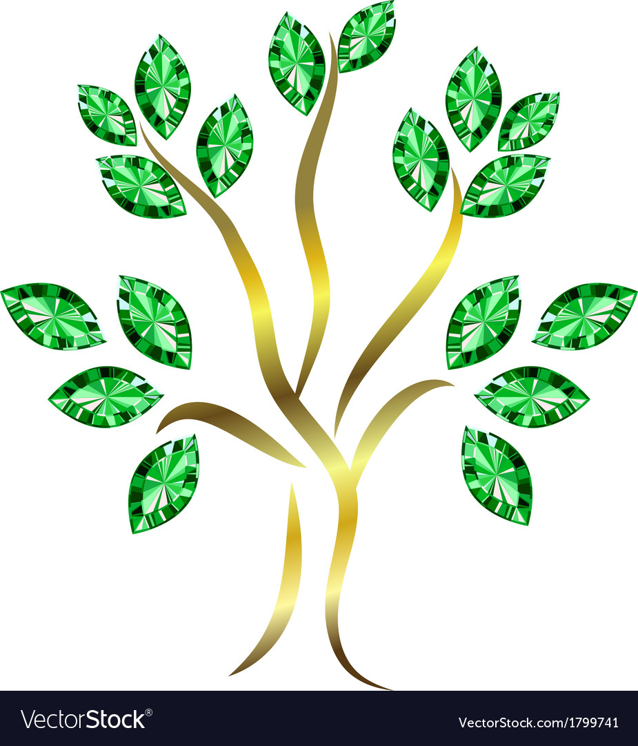 Emerald tree vector | Price: 1 Credit (USD $1)