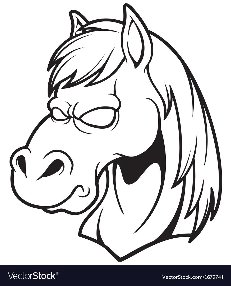Head horse vector | Price: 1 Credit (USD $1)