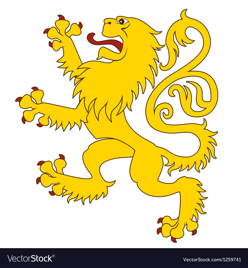 Heraldic lion 24 vector | Price: 1 Credit (USD $1)