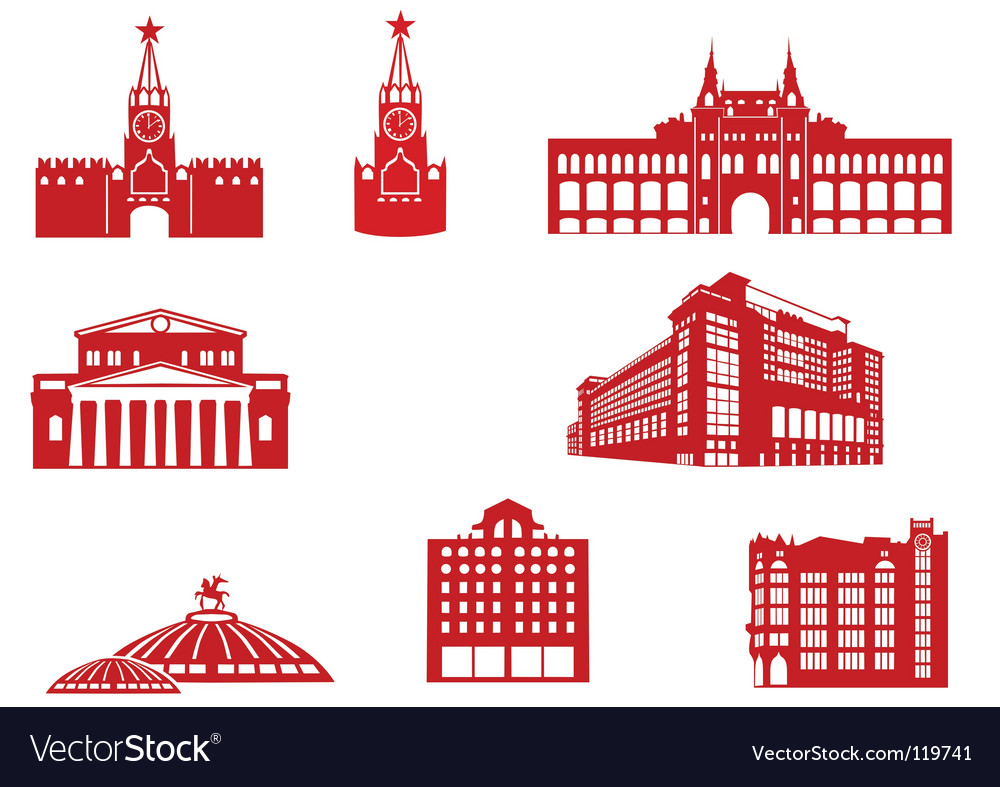Moscow building icons vector | Price: 1 Credit (USD $1)