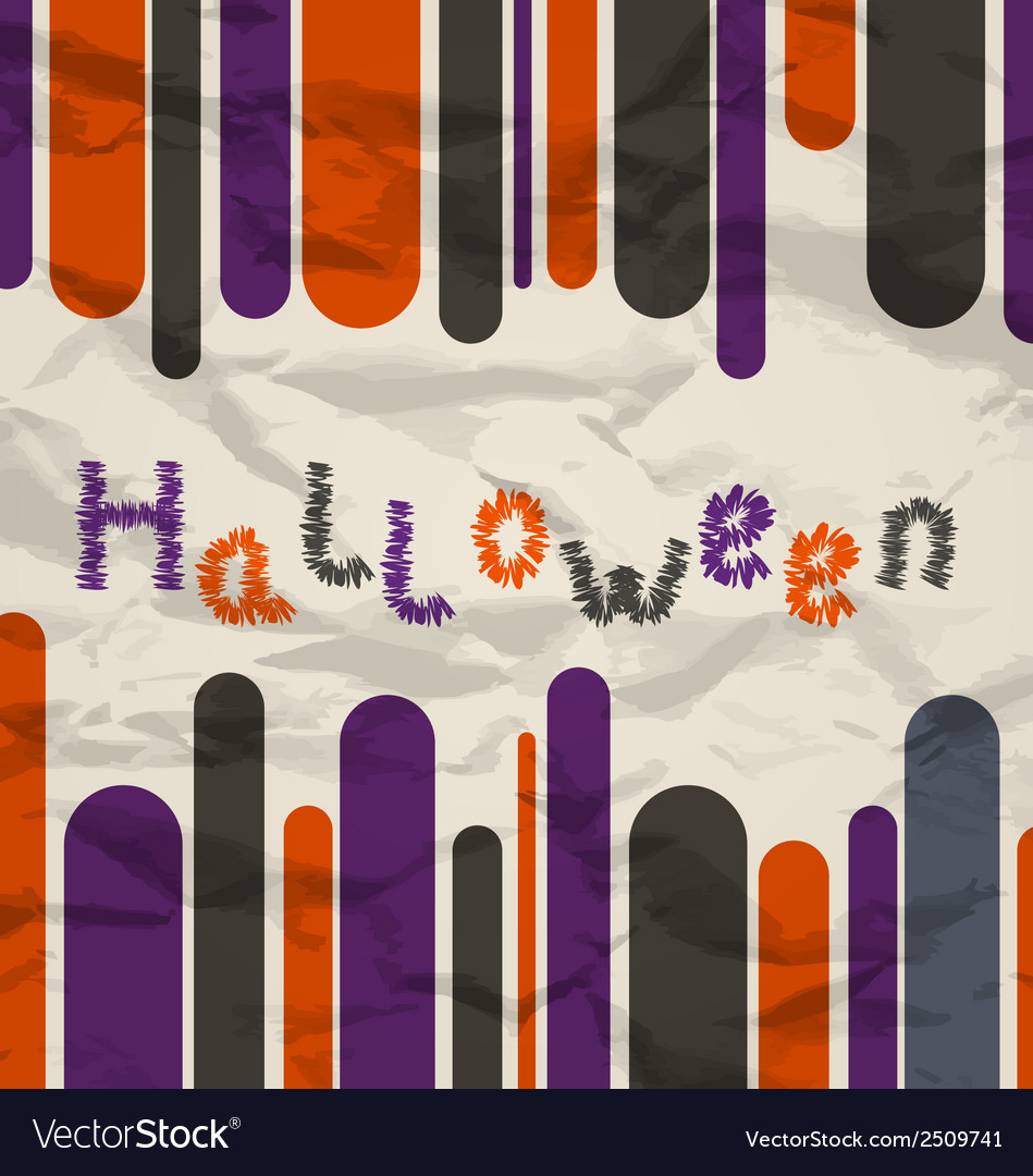 Old colorful poster with text for halloween vector | Price: 1 Credit (USD $1)