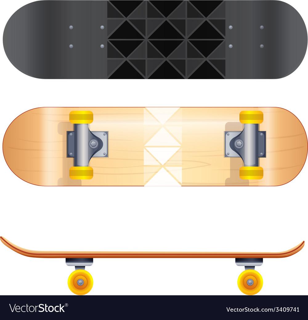 Skateboard templates vector | Price: 1 Credit (USD $1)