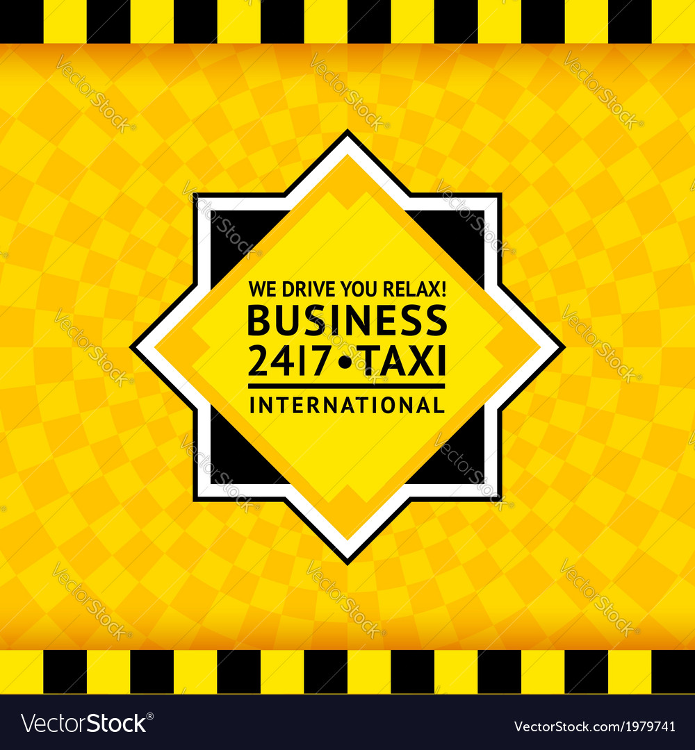 Taxi symbol with checkered background - 25 vector | Price: 1 Credit (USD $1)