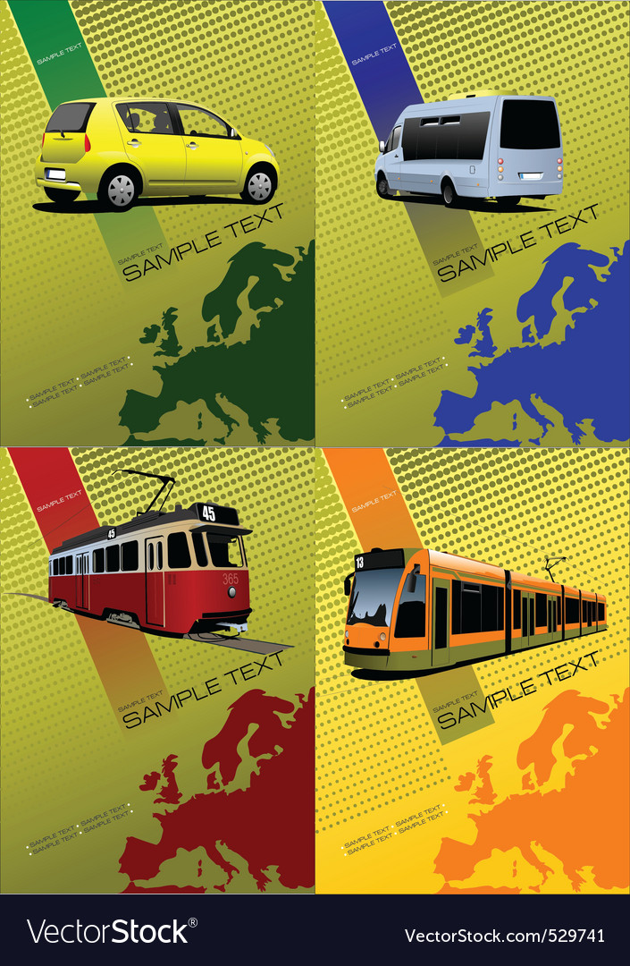 Transport posters vector | Price: 1 Credit (USD $1)