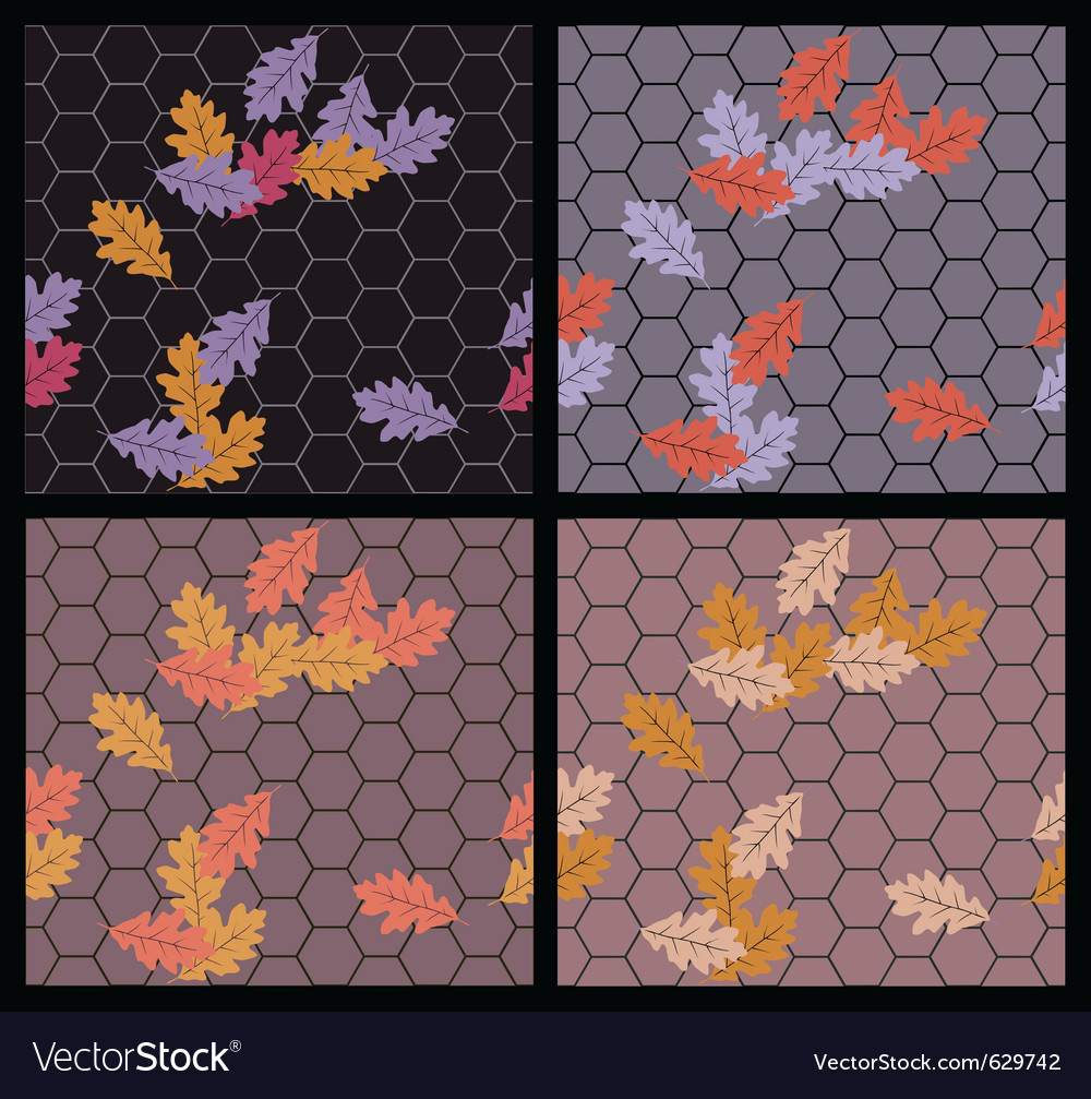 Autumn sidewalk vector | Price: 1 Credit (USD $1)