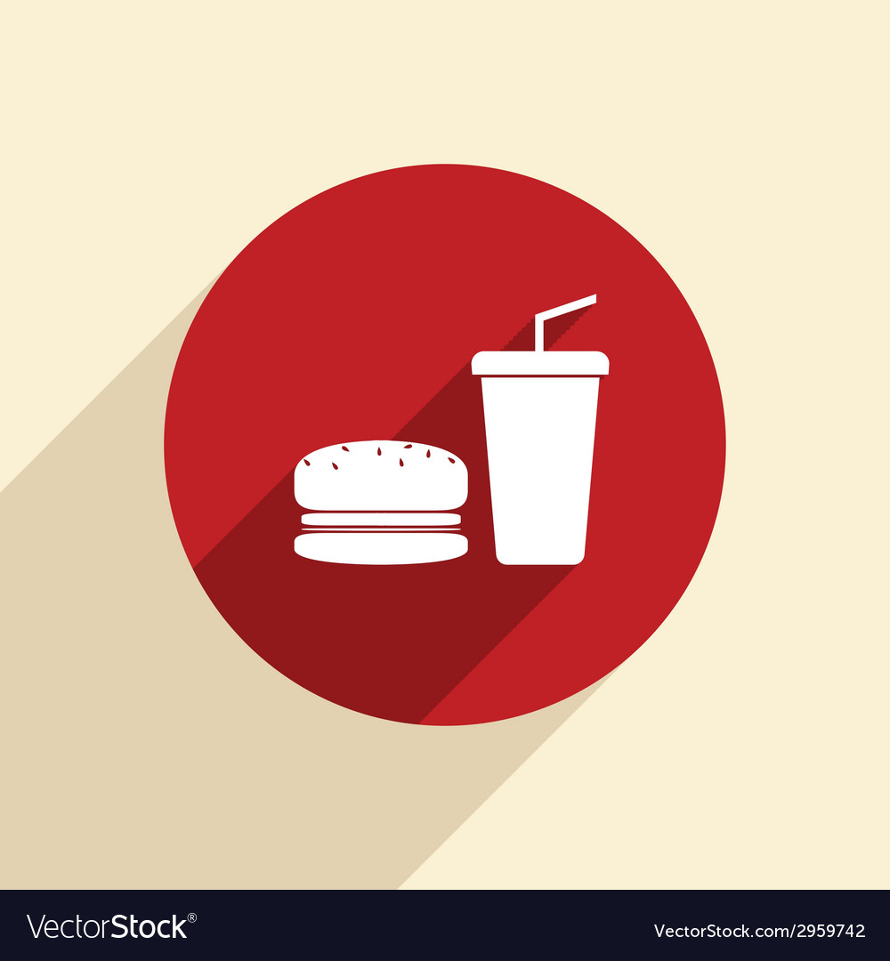 Burger and paper cup vector | Price: 1 Credit (USD $1)