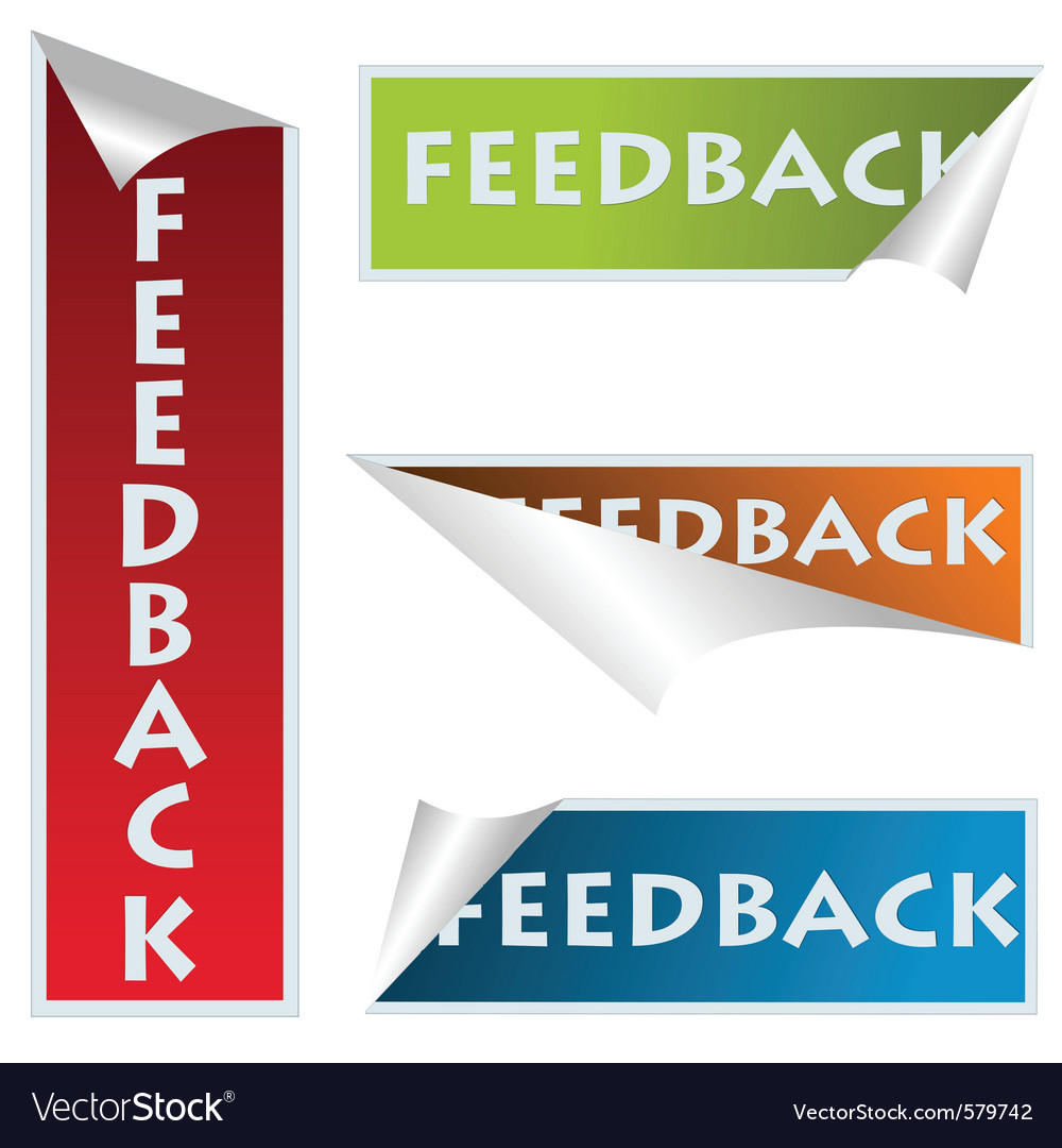 Feedback stickers vector | Price: 1 Credit (USD $1)