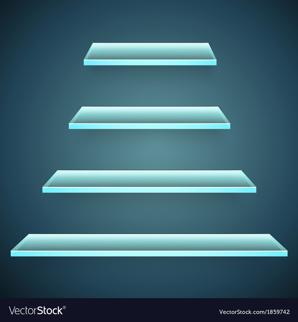 Neon glass shelves vector | Price: 1 Credit (USD $1)