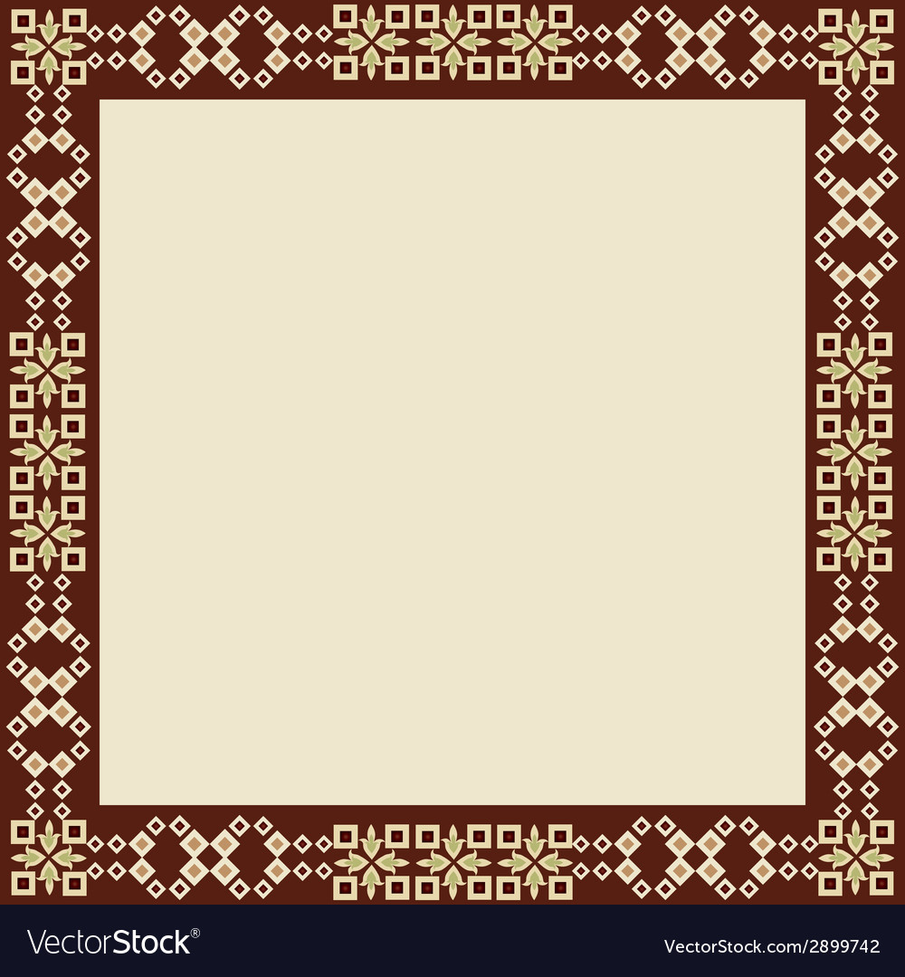 Oriental style border and frame vector | Price: 1 Credit (USD $1)