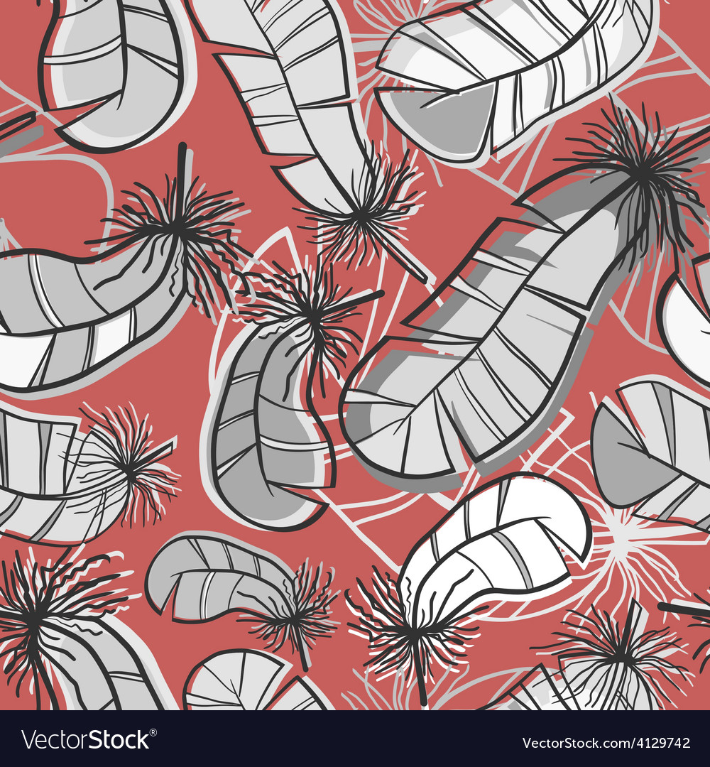 Seamless pattern of feathers vector | Price: 1 Credit (USD $1)