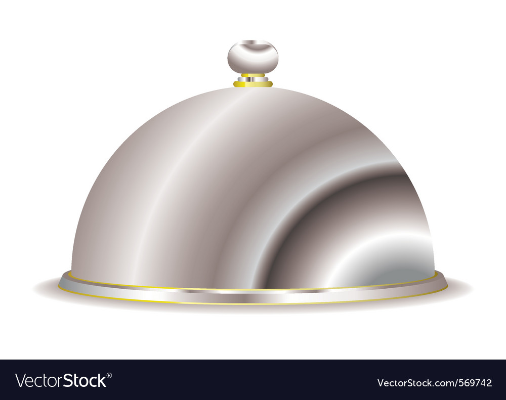 Silver food serving cloche vector | Price: 1 Credit (USD $1)