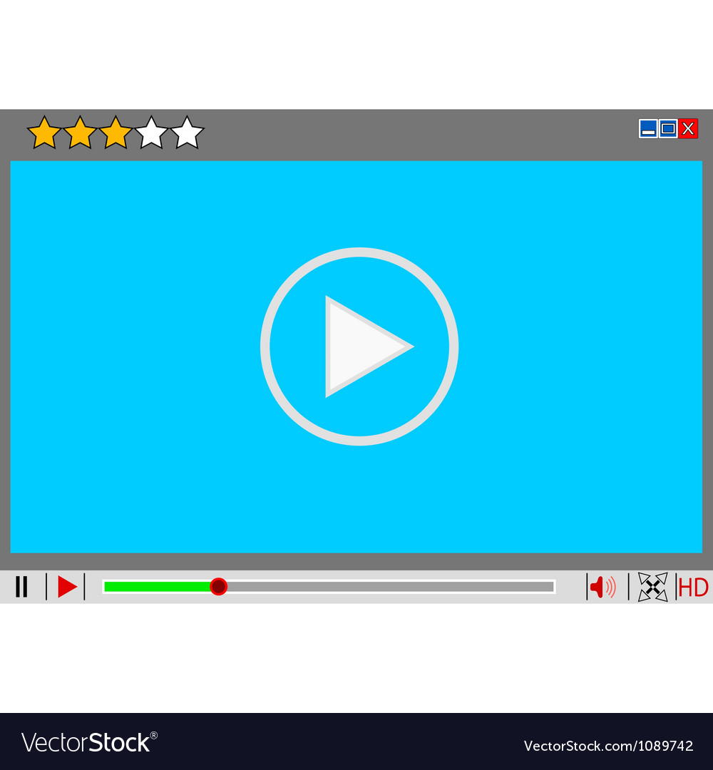 Video movie media player interface vector | Price: 1 Credit (USD $1)