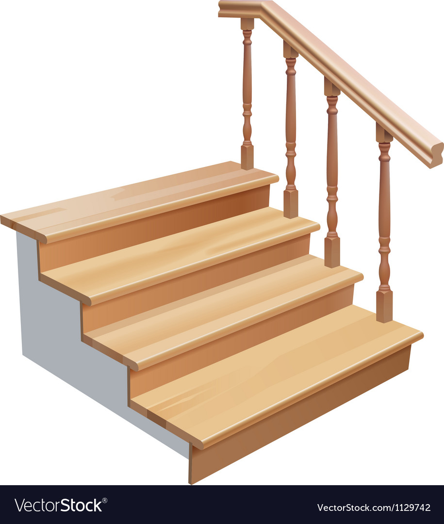 Wooden stairs vector | Price: 3 Credit (USD $3)
