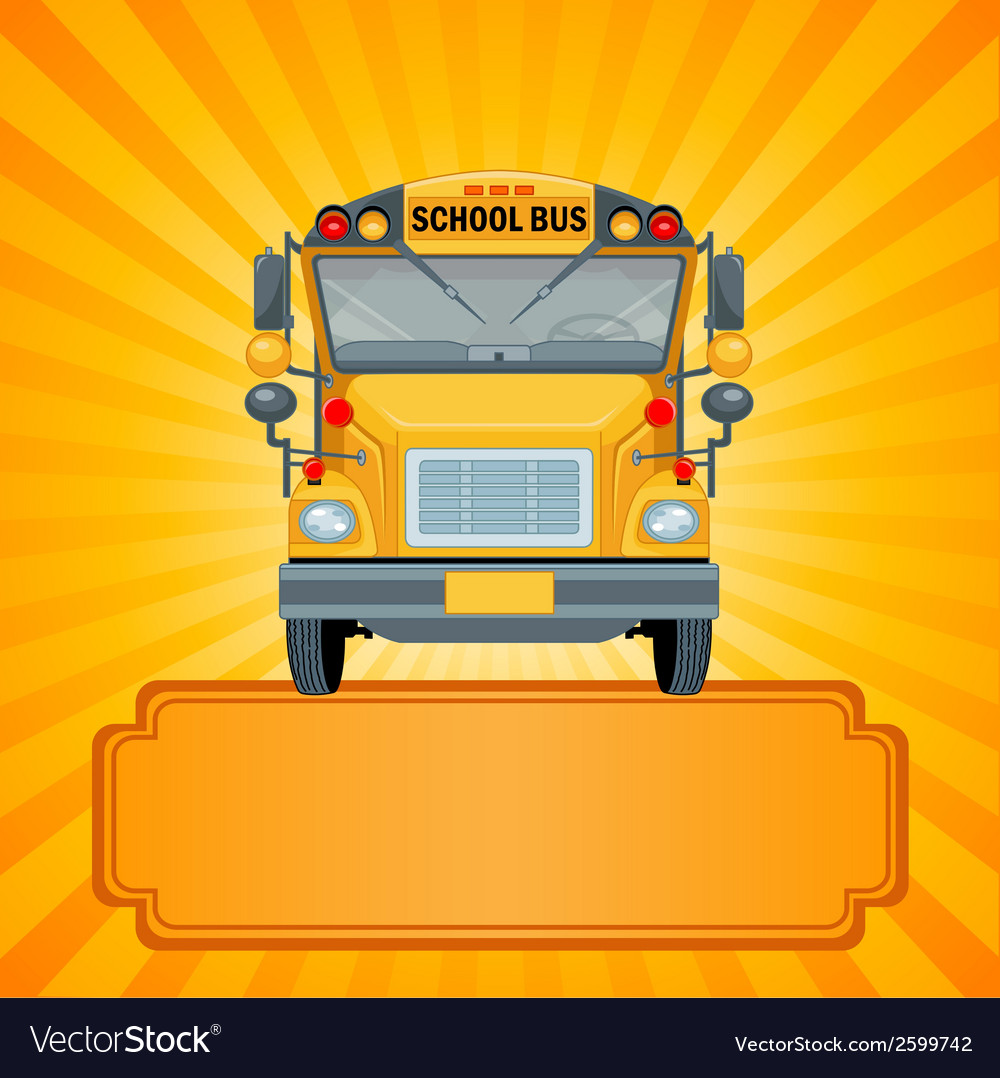 Yellow school bus vector | Price: 1 Credit (USD $1)