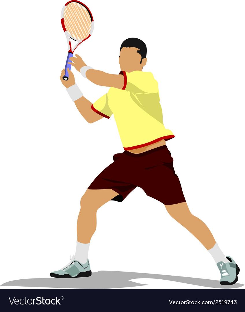 Al 0322 tennis 02 vector | Price: 1 Credit (USD $1)