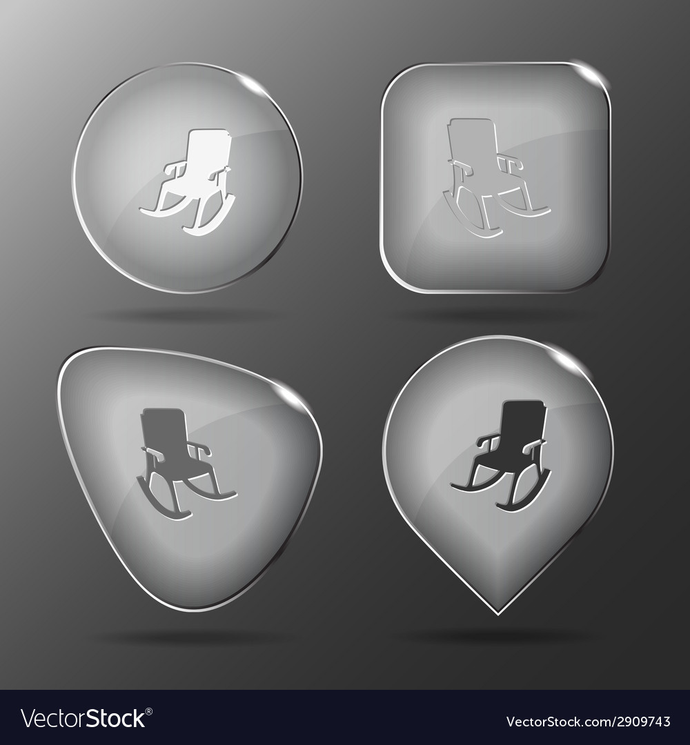Armchair glass buttons vector | Price: 1 Credit (USD $1)