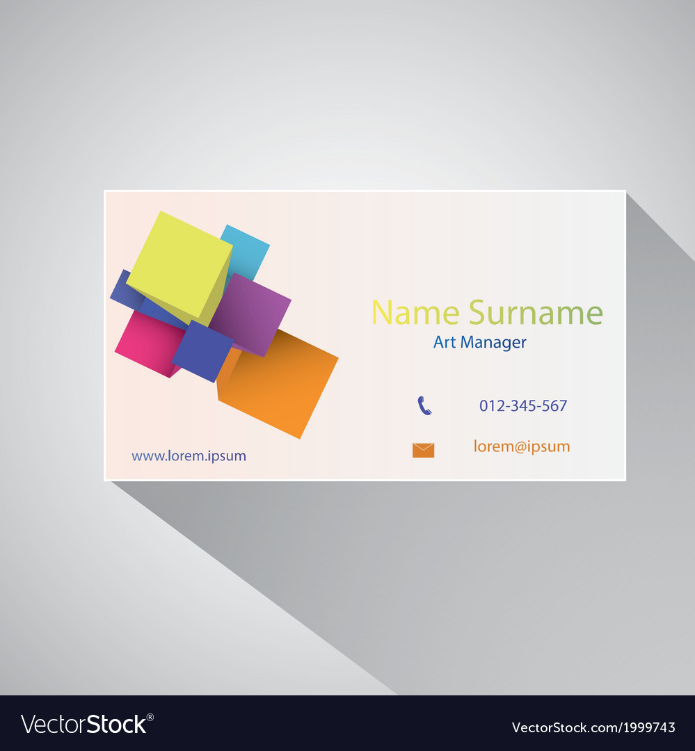 Calling card of art manager vector | Price: 1 Credit (USD $1)