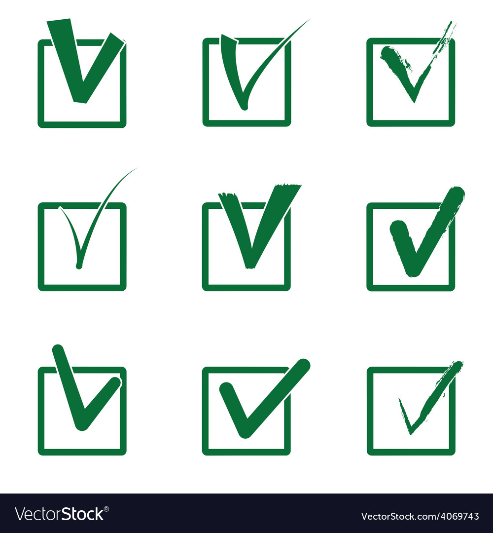 Checkboxes vector | Price: 1 Credit (USD $1)