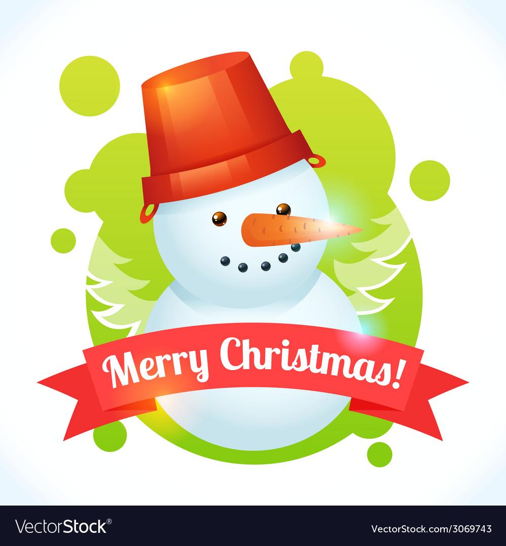 Christmas snowman card vector | Price: 1 Credit (USD $1)