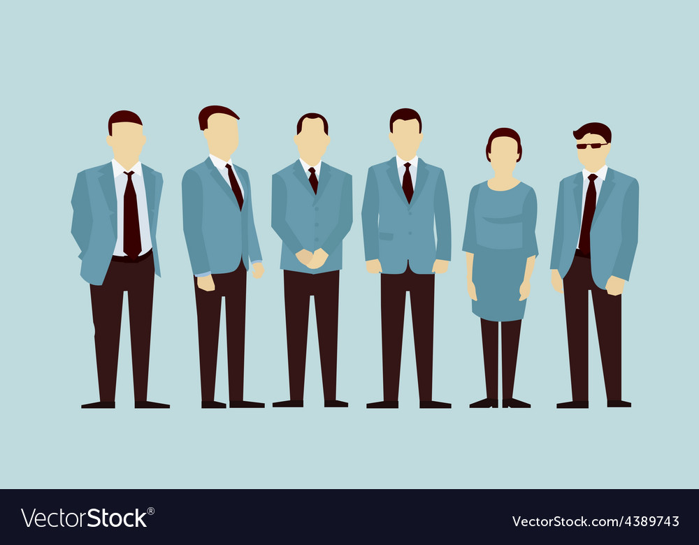 Concept of group people flat avatars vector | Price: 1 Credit (USD $1)