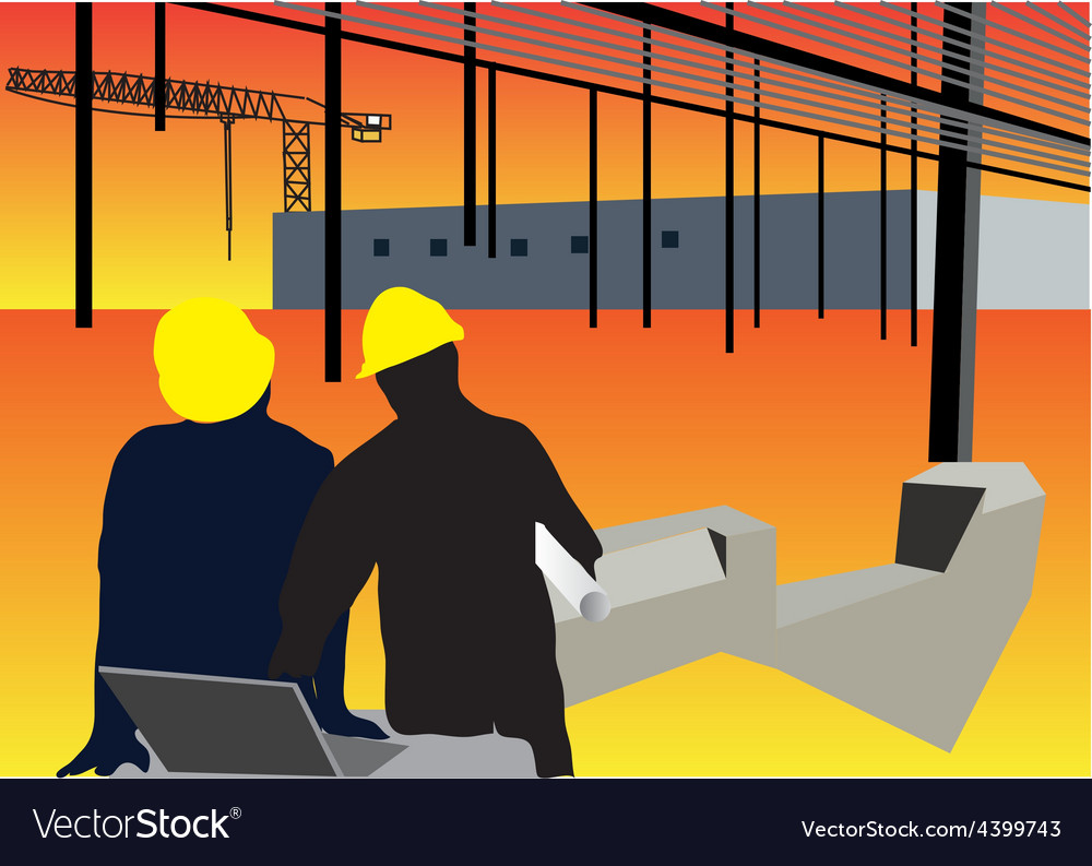 Construction workers background vector | Price: 3 Credit (USD $3)