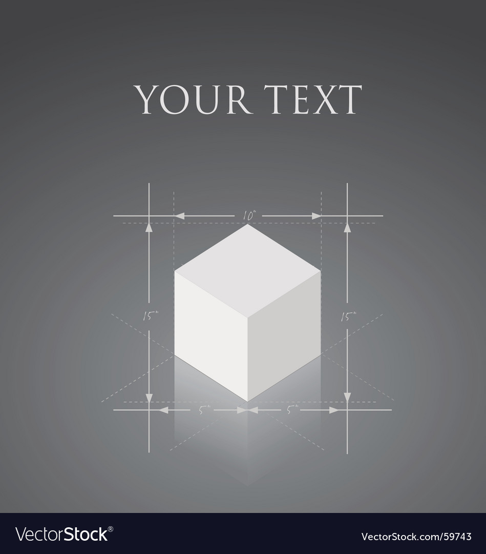 Cube blueprint vector | Price: 1 Credit (USD $1)