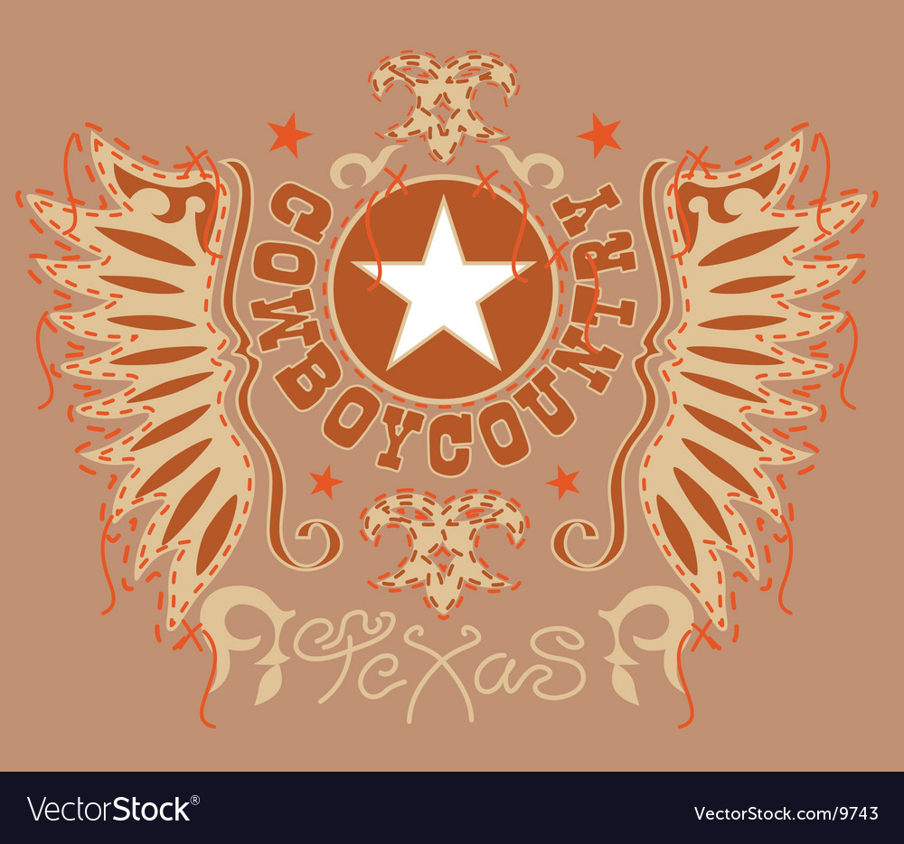 Design of the old west vector | Price: 1 Credit (USD $1)