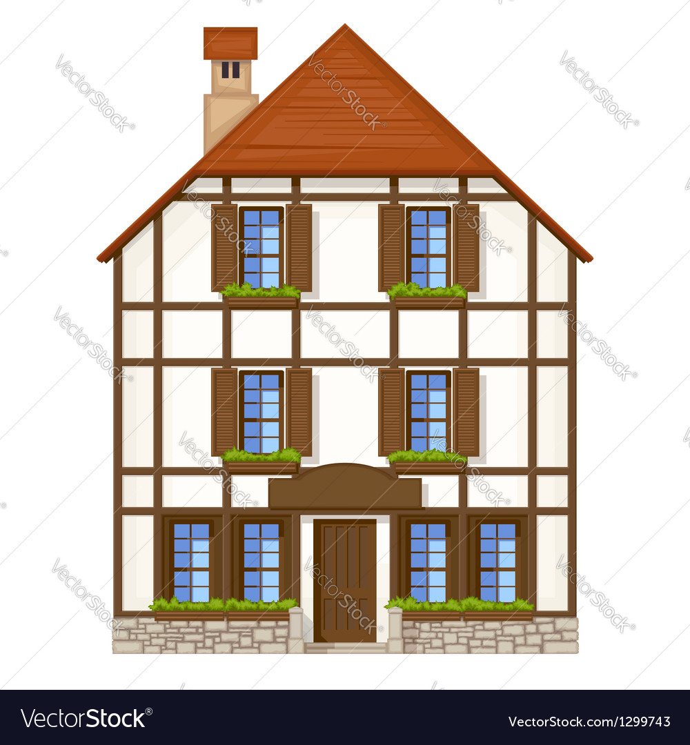 Old style house vector   Price: 3 Credit (USD $3)