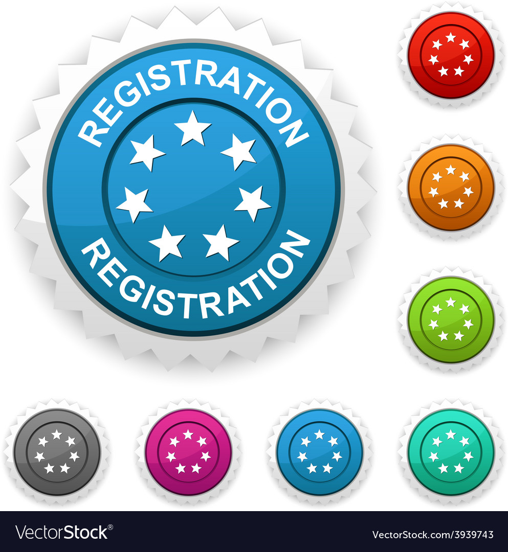 Registration award vector | Price: 1 Credit (USD $1)