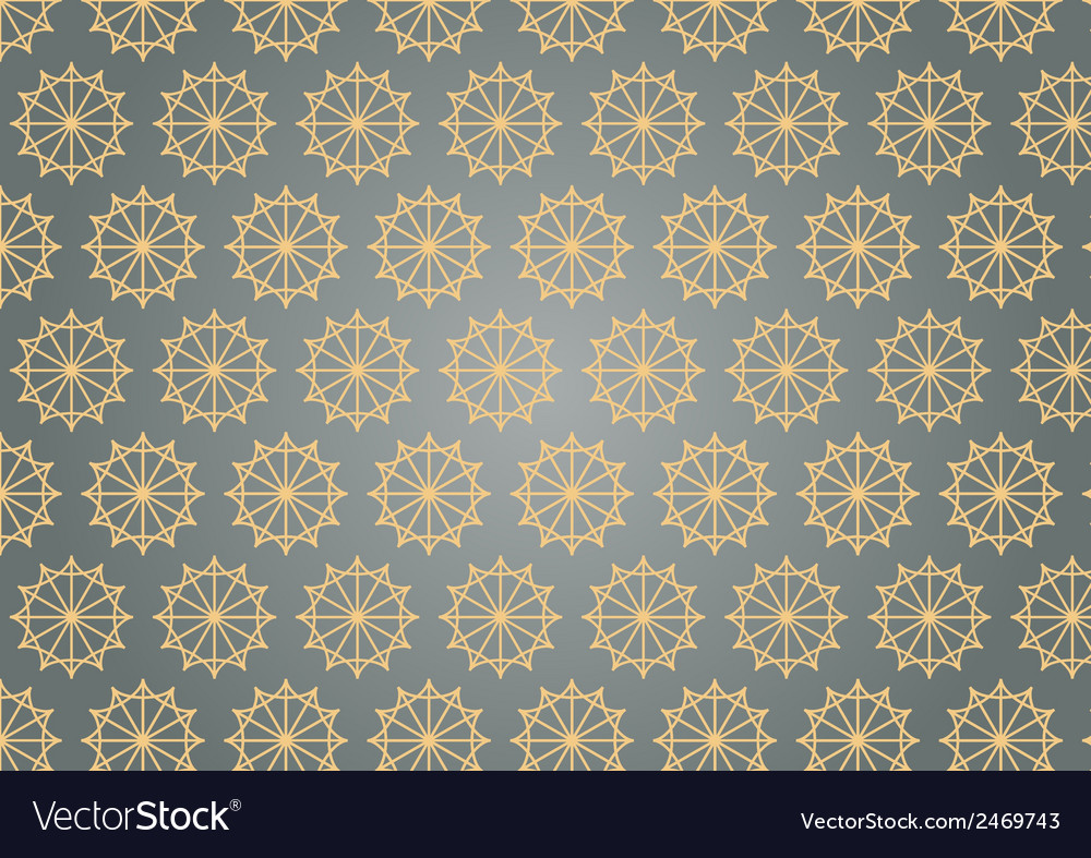 Retro star hexagon pattern on pastel color vector | Price: 1 Credit (USD $1)