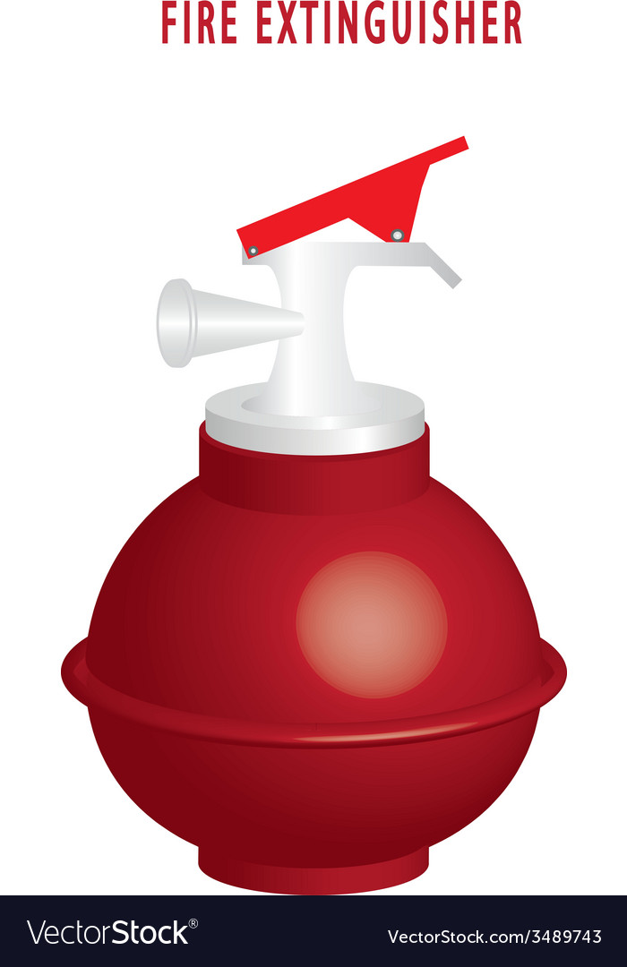 Round fire extinguisher vector | Price: 1 Credit (USD $1)